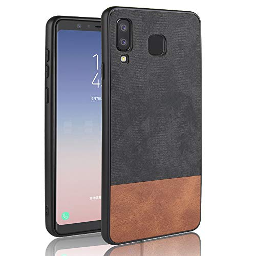FindaGift Samsung Galaxy A8 Star (A9 Star) Case, PC Hard Case TPU Case Slim Soft Flexible Shock Absorbent Protective Cover Smart Case Soft Silicone Cover Hard PC+ TPU Bumper Protective Case,Black