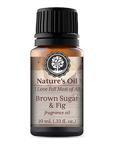 Brown Sugar & Fig Fragrance Oil 10ml for Autumn Diffuser Oils, Making Soap, Candles, Lotion, Home Scents, Linen Spray and Lotion ()