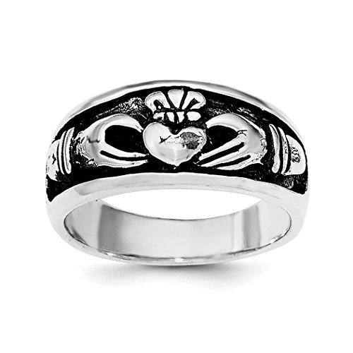 ICE CARATS 925 Sterling Silver Irish Claddagh Celtic Knot Band Ring Size 6.00 Fine Jewelry Gift Set For Women Heart