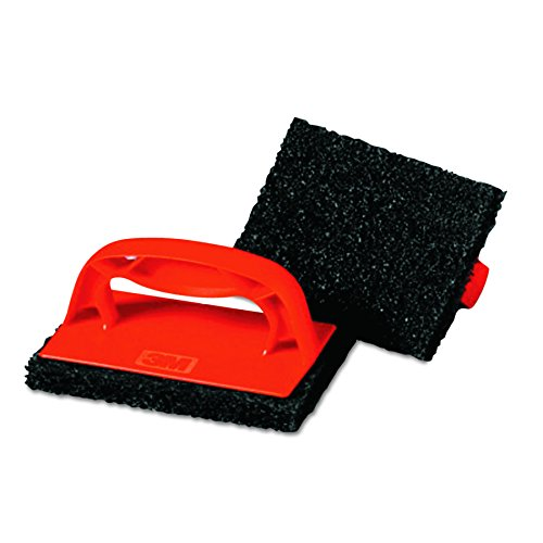 Scotch-Brite PROFESSIONAL 9537 Scotchbrick Griddle Scrubber, 4w x 6d x 3h, Red/Brown, Pack of 4 (Case of 3 Packs)