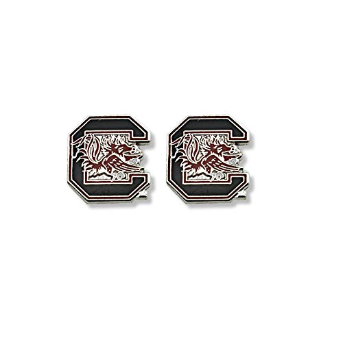 NCAA South Carolina Fighting Gamecocks Logo Post Earrings, Team Color, 2.5