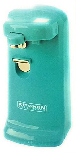 Kitchen Selectives Electric Can Opener with Bottle & Can Opener Aqua