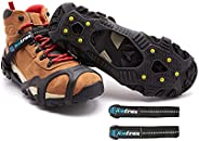 ICETRAX V3 Tungsten Ice Cleats with Straps Combo Pack, Winter Ice Grips for Shoes and Boots - Anti-Slip Grippe