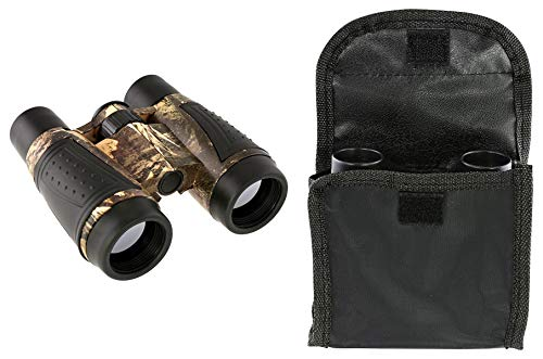 Best Camo Camouflage Game Day 4 x 30 Adjustable Zooming Focus Binoculars with Pouch Sweet Fun Valentine Day Special Sale Under 20 Dollars for Him Men Adults Teen Boy Boyfriend Son Husband ()