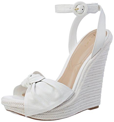 Bianco Donna Bright White Caviglia alla Aldo Sandali Cinturino Besch con anqxwa70vB