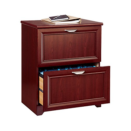 RealSpace 422364 2-Drawer Lateral File, Dark Cherry