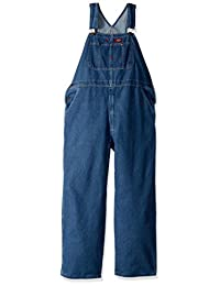 Dickies Men's Denim Stone Washed Bib Overalls