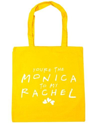 HippoWarehouse estás la Monica a mi Rachel bolsa de la compra bolsa de playa 42cm x38cm, 10litros amarillo
