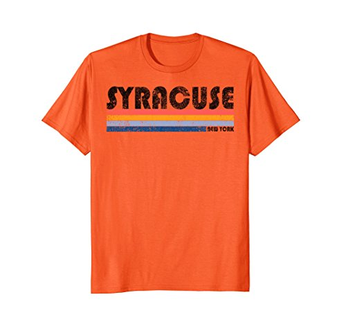 Mens Vintage 1980s Style Syracuse New York T Shirt XL (New York Style Graphic Tee)