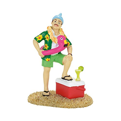 Department 56 Margaritaville Parrot Head King Figurine Village Accessory, Multicolored
