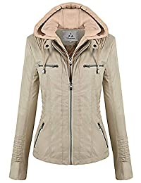 Womens Leather Faux Leather Coats Jackets Amazon Ca