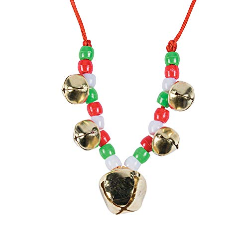 - Fun Express - Jingle Bell Necklace CK- 48pc for Christmas - Craft Kits - Kids Jewelry Craft Kits - Kids Necklace - Christmas - 48 Pieces