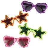 Baker Ross Gafas de Sol Divertidas para Niños (Paquete de 4) Regalos para Bolsas de cotillón