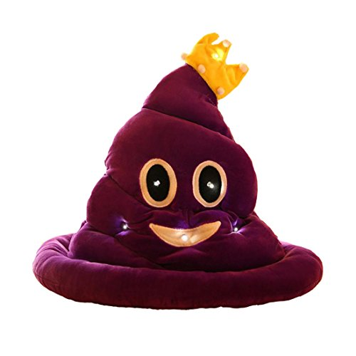 [Emoji Light Up Poop Hat Funny Plush Emoticon Head Wear Party Hat by Caramella Bubble (light up)] (Cute Costumes To Make Yourself)