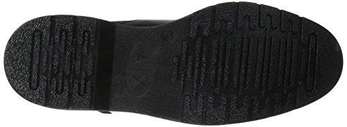A | X Armani Exchange Mens Stringato Zip Laterale Con Suola Dettaglio Militare E Tattico Di Avvio Mimetico Blu