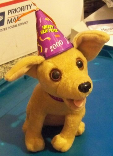 plush talking taco bell dog happy new year 2000 new works 6
