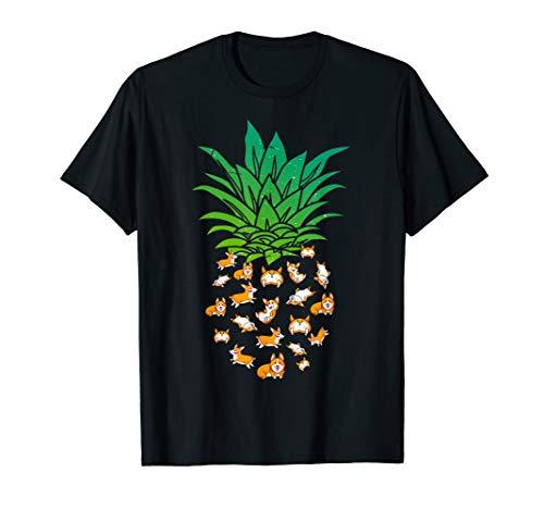 Pineapple Corgi T-Shirt Best Birthday Gift For Corgi Lovers