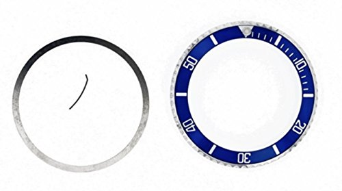 Installed Bezel + Insert for Rolex Submariner SAPPAIRE 16610LV Blue