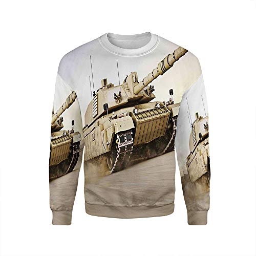iPrint Unisex Crew,War Home Decor,Pullover Sweater