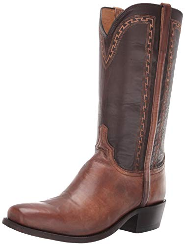(Lucchese Bootmaker Men's Stanley Western Boot, Antique Pearl, 10 D US)