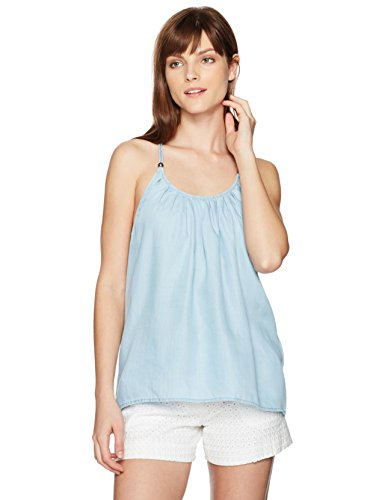 Guess Women's Babydoll Top, Super Bleached Wash, S