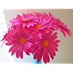 12-Fuchsia-Gerbera-Daisies-on-Stems-Dark-Hot-Pink-3-Gerber-Daisy-Floral-Picks-Handcrafted-Paper-Flowers