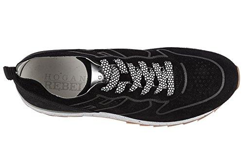 Hogan Rebel Herenschoenen Mannen Suède Sneakers Schoenen Loopt R261 Zwart