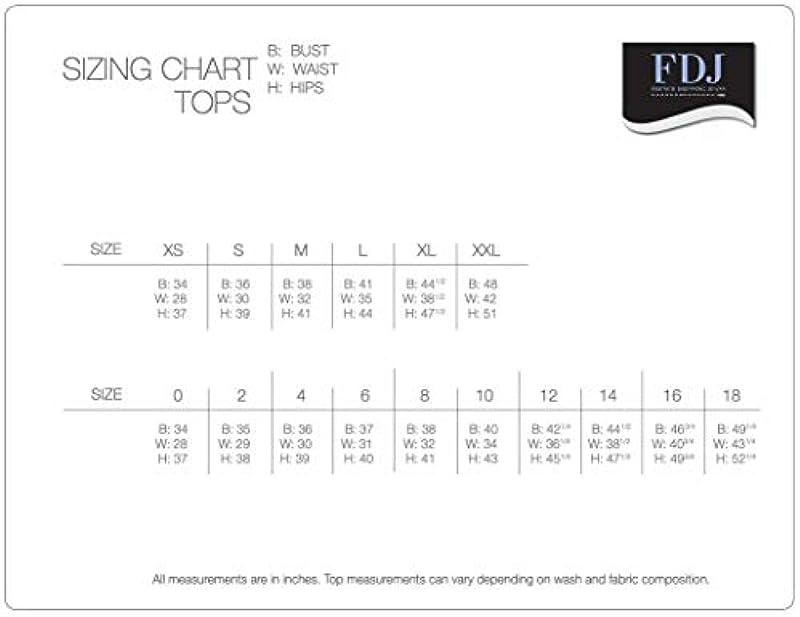 FDJ French Dressing Jeans Solid bestickt Tab Up 3/4 Arm Top - Weiß - XX-Large: Odzież