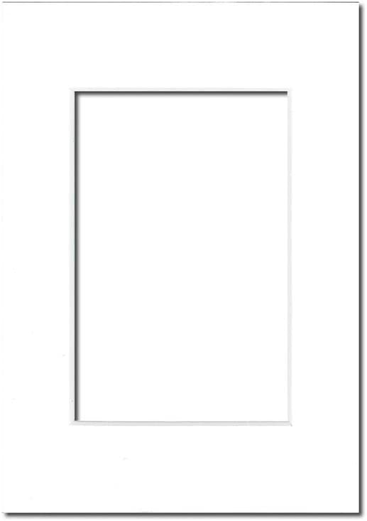 PA Framing Photo Mat Board White Core//White 5 x 7 inches Frame for 3.5 x 5 inches Photo Art Size