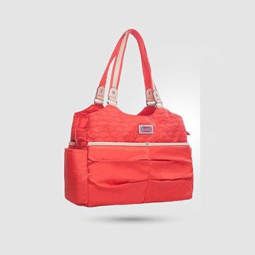 Multi-funcional solo llevar el bolso de la madre, bolso de la momia, bolso de la momia de la capacidad grande de la manera ( Color : Azul ) Naranja
