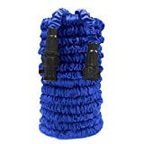 Garden Hose, Expanding Hose, MONOLED Expandable Garden Hose, Bungee Style Expanding Hose triple Layer Latex Core Extra Strength without Spray Nozzle, Suitable for Home and Heavy Duty Commercial Use (75FT)