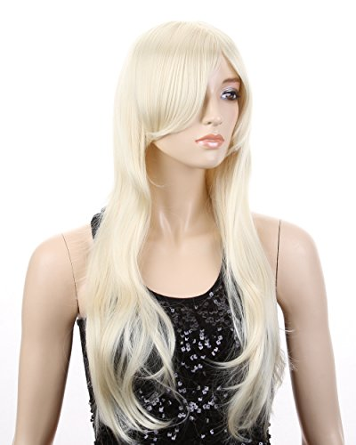 Cool2day Long Cosplay Wavy Pale Blonde Hair Full Wig+Free Wig Cap(Model:JF011642)