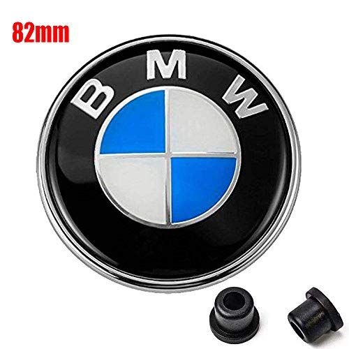 Emblems Hood For BMW, 82mm Logo Replacement Trunk + 2 Grommets for ALL Models BMW E46 E30 E36 E34 E38 E39 E60 E65 E90 325i 328i X3 X5 X6 1 3 5 6 7