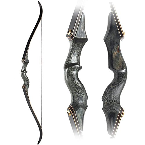 Obert Archery Takedown Recurve Bow 58inch Traditional Longbow Hunting Target - Brace Recurve Bow Height