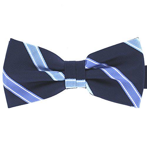 Tok Tok Designs® Handmade Men Bow Ties - B209 (Navy Blue)