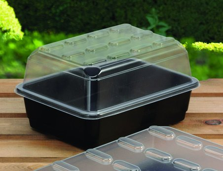 Garland Half-Size Budget Seed Propagator 23x17x13 cm Without Holes Black