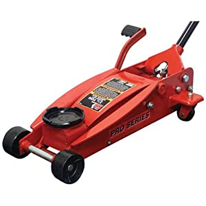 Torin Big Red Quick Lift Floor Jack with Foot Pedal: Single Piston Pump, 3.5 Ton Capacity