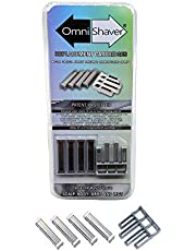 Premium Omnishaver Replacement Cartridge Refill Kit with One Blade Removal Tool - Disposable, Self Cleans & Strops During Use - Durable Smooth & Comfortable 4 Blades