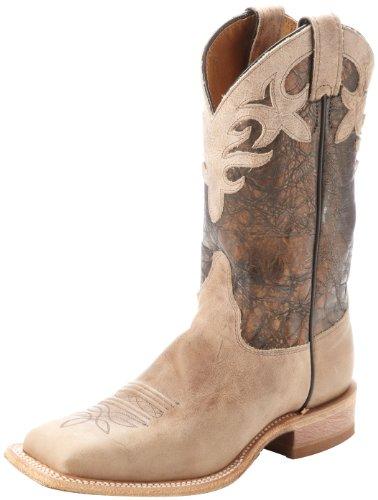Justin Boots Womens Square-toe Bent Rail Boot Antique Beige Cowhide/Cobre Metallic jjFJoqt