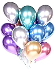 Balloons (Set of 10) - Mixed Chrome