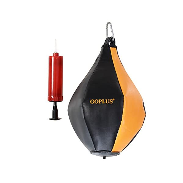 GOPLUS Punching Bag w/Stand 2 in 1 Hanger Wall Bracket Hanging Boxing Frame with Heavy Bag & Speed Bag 4