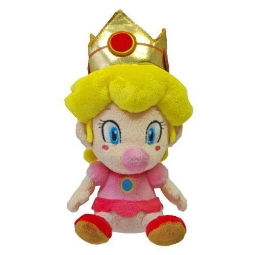 Little Buddy Super Mario Plush Baby Peach, 5-Inch -