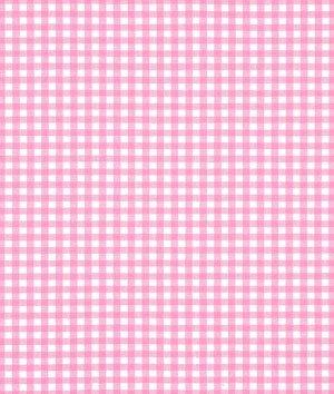 Robert Kaufman Kaufman 1/8in Carolina Gingham Candy Pink Fabric by The Yard,
