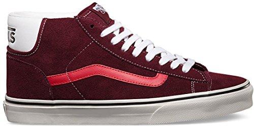 Vans MID SKOOL 77 - Zapatillas de skateboarding de Piel para mujer Rojo earthtone suede port royale Rojo - earthtone suede port royale