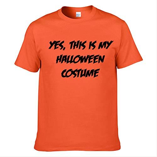 fanituhan ハロウィン オレンジ パンプキン かぼちゃ 半袖Tシャツ おもしろ 衣装 仮装コスチューム L