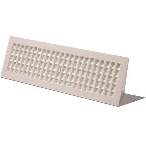 Decor Grates PL15BB-WH 15-Inch Plastic Baseboard Register, White