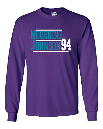 Long Sleeve Purple Charlotte Mourning Johnson 94 T-Shirt Adult