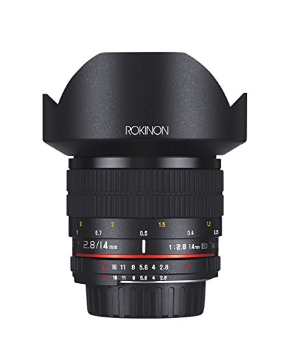 Rokinon 14mm f/2.8 IF ED UMC Ultra Wide Angle Fixed Lens w/ Built-in AE Chip for Nikon (Wide Chip)