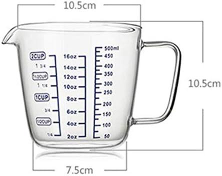 SMXGF Multifonction échelle de verre, Coupe du lait Mesureur de cuisson Mesureur, 500ml Home Essentials (Size : 120ml+300ml+600ml)