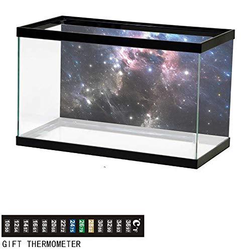 bybyhome Fish Tank Backdrop Constellation,Vivid Supernova,Aquarium Background,36